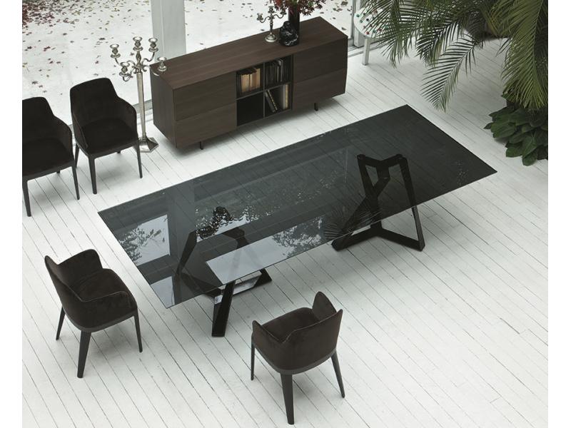 Bontempi Casa Millennium Xxl Smoke Glass Table