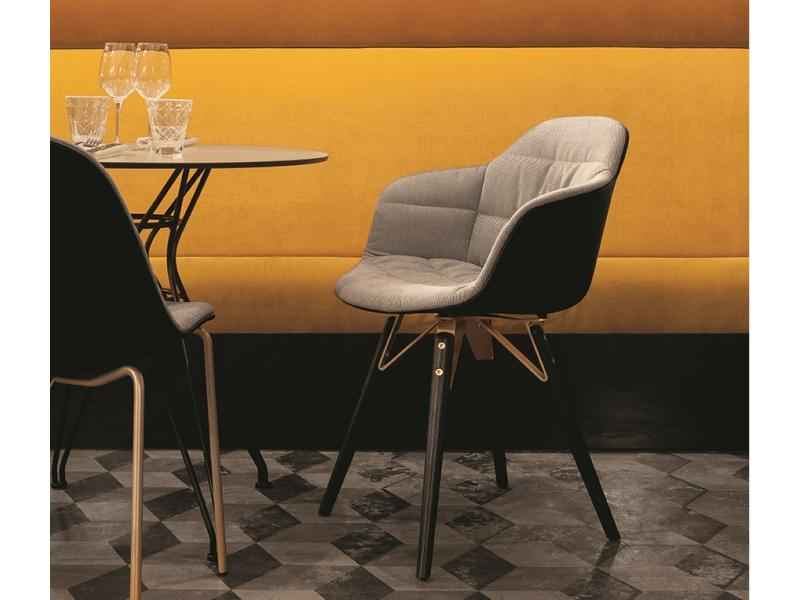 Bontempi Casa - Mood Wood Leg Chair With Arms