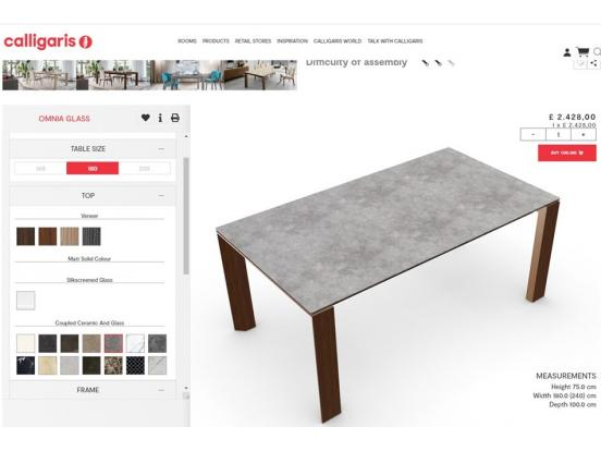 Calligaris – Omnia Extendable Dining Table Clearance