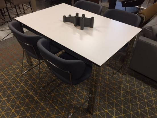 Calligaris - Ex Display Duca 130 -190 Cermaic Table & Claire Chairs