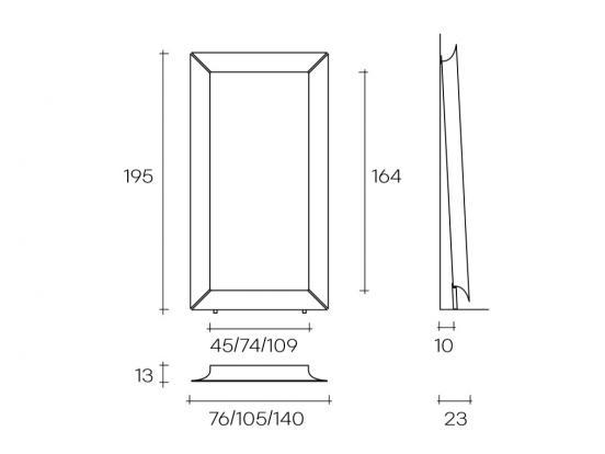 Fiam Italia - Caadre Floor standing Mirror (195 x 105cm)