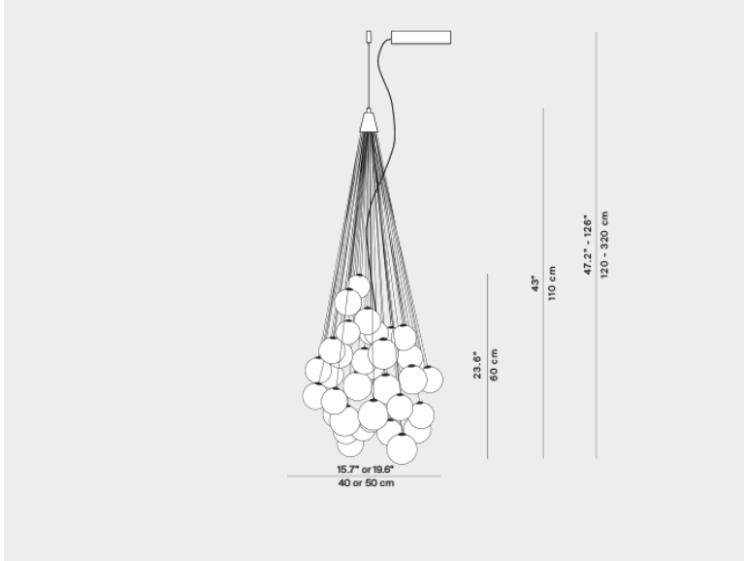 Luceplan – Stochastic Multi-Drop Pendant