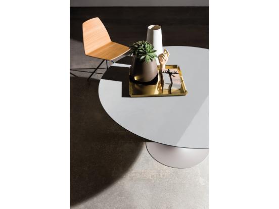 Sovet - Flute 100cm Round Ceramic Dining Table