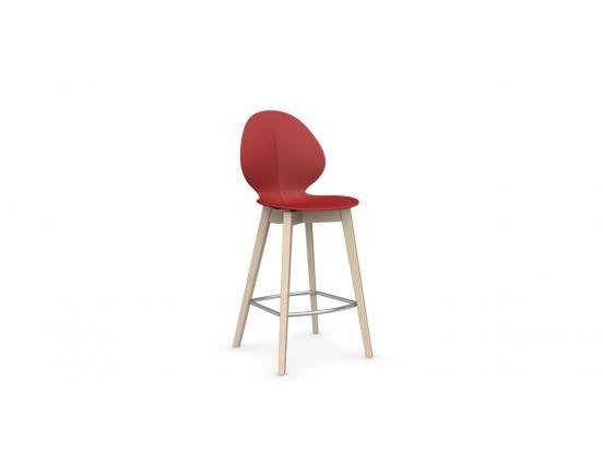 Calligaris basil stool wood for Calligaris basil w