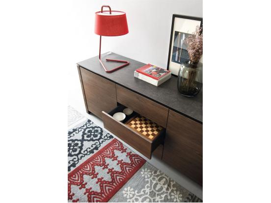 Calligaris - Mag 2 Door 3 Central Drawer Sideboard Ceramic top