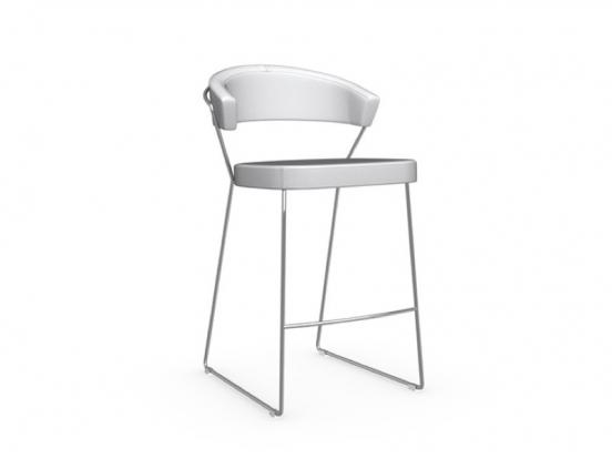 Connubia - New York Stool Leather Fixed Height