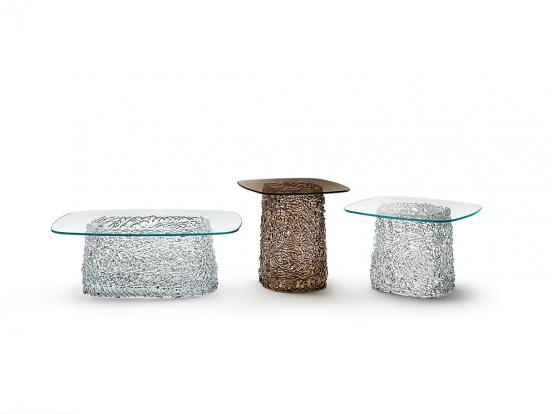 Fiam Italia - Macramé Painted Base Coffee Table