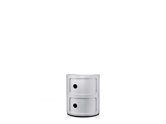 Kartell - Componibili Silver 2 Door 25% Off