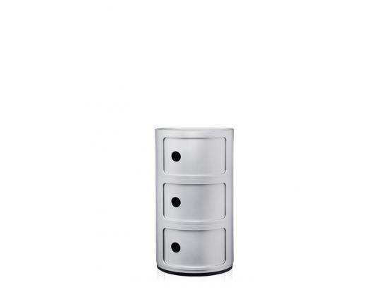 Kartell - Componibili Silver 3 Door 25% Off
