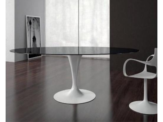 Sovet - Flute 160cm Elliptical Ceramic Table