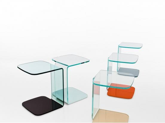 Sovet - Shell Extralight Glass Top Side Table