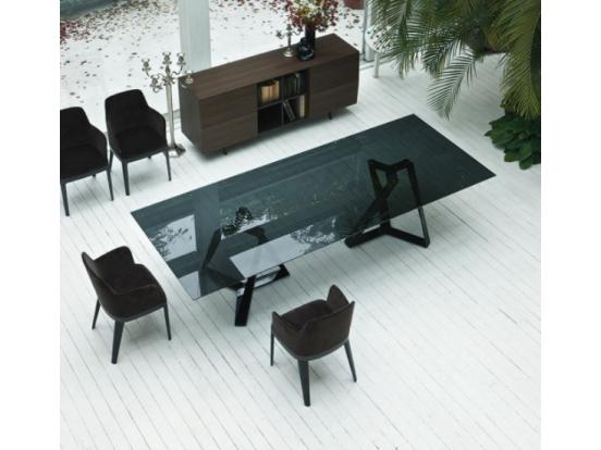 Bontempi Casa - Millennium XXL Smoke Glass Table
