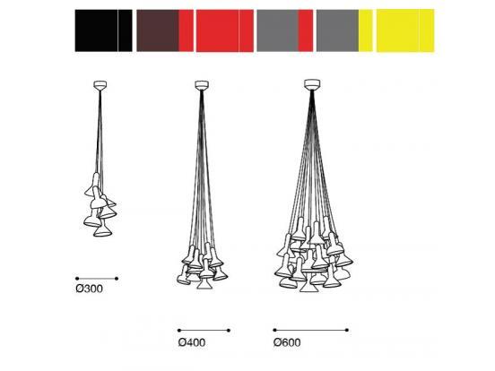 Established & Sons - Torch Bunch 5 Pendant
