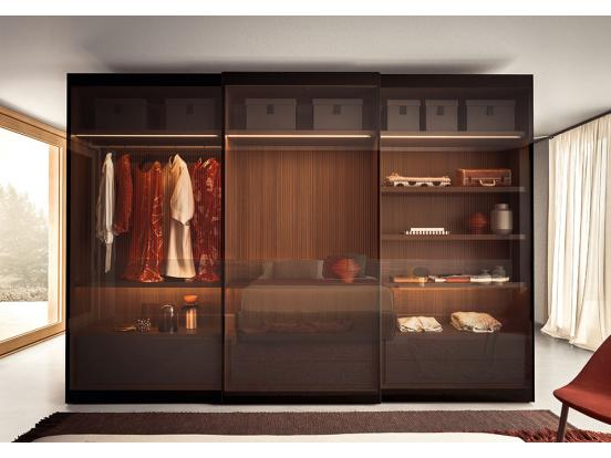 Pianca - Vitrum Sliding Door Wardrobe