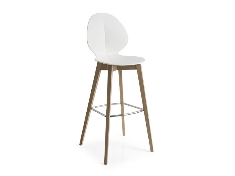 Calligaris basil stool wood for Calligaris sgabelli