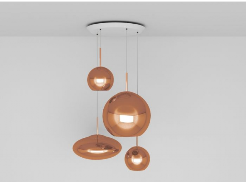 Tom Dixon - Copper Round Multi-Drop Pendant