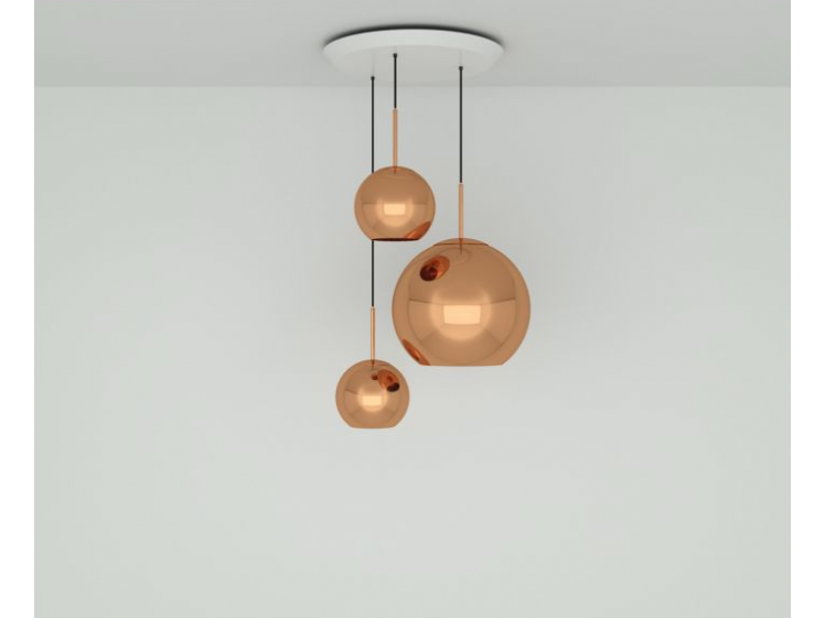 Tom Dixon - Copper Trio Multi-Drop Pendant