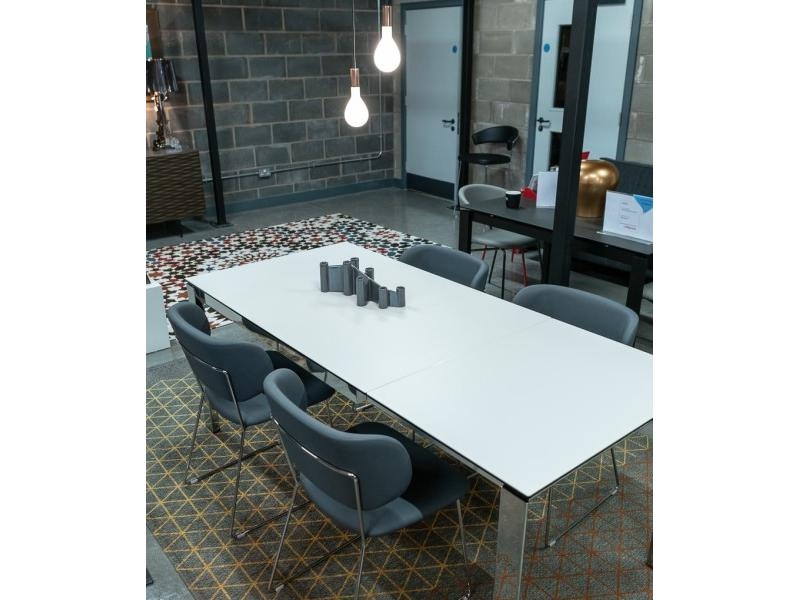 Calligaris - Duca 130 -190 Cermaic Table & 4 Claire Chairs Clearance