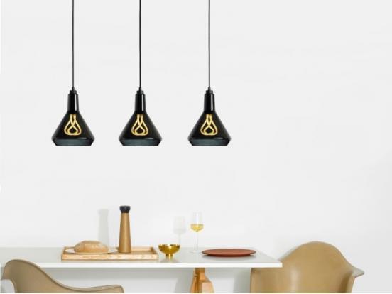Plumen - Drop Top Lamp Shade Black & Black Drop Cap