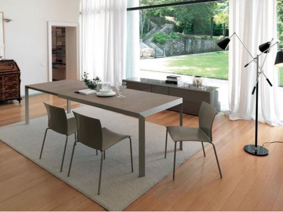 Bontempi Casa   Izac Table 140  182   222 X 90 Cm