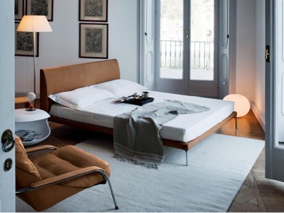 Zanotta -Talamo Bed 1883 (bed 160 x 200 cm)