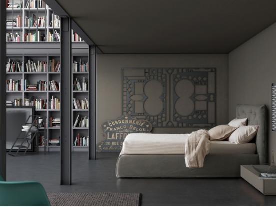 Pianca - Impunto Maxi & Plisse Frame 160 x 200 cm Bed