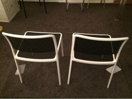 Kartell - Audrey White & Black Chairs Clearance 60% Off (2 in stock)