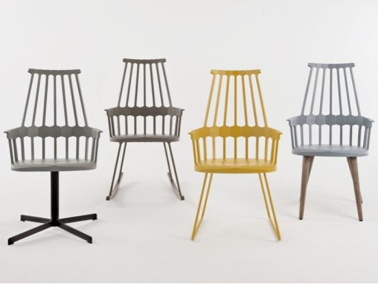 Kartell - Comback Chair Wood Legs