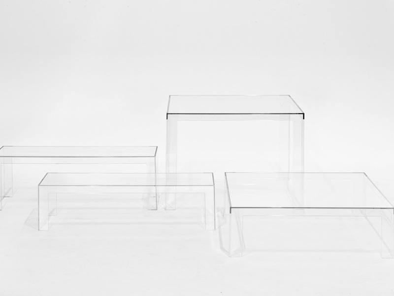 Tavolino Invisible Side.Kartell Invisible Coffee Table
