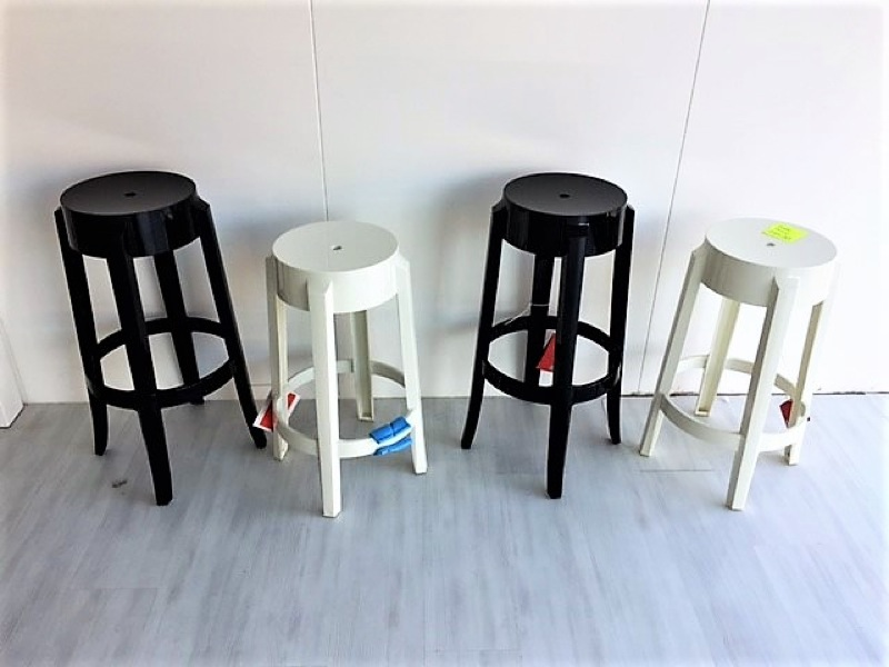 Kartell - Charles Ghost Stools in Black Clearance