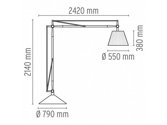 Flos - Superarchimoon Floor Light