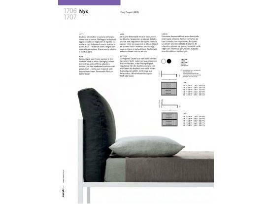 Zanotta - NYX Bed 1706 & 1707 (bed 160 x 200 cm)