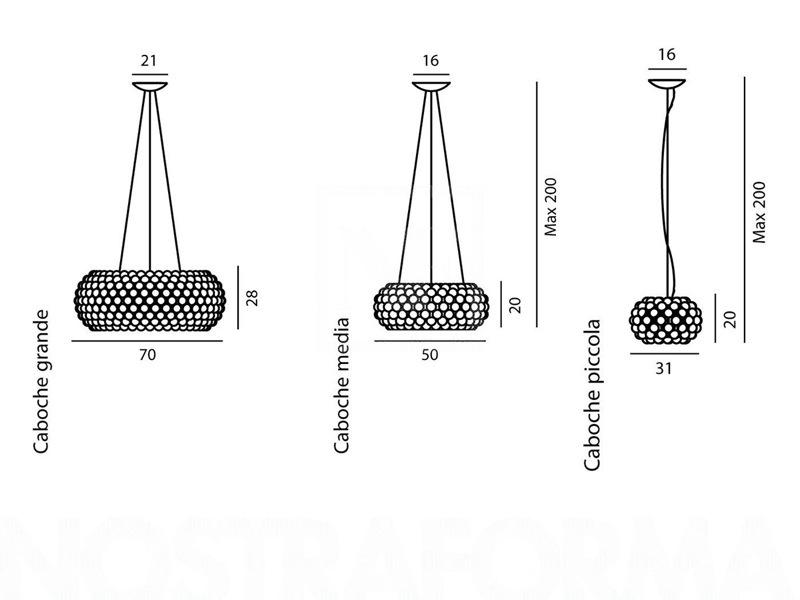 Foscarini caboche pendant large suspension foscarini caboche large pendant aloadofball Image collections