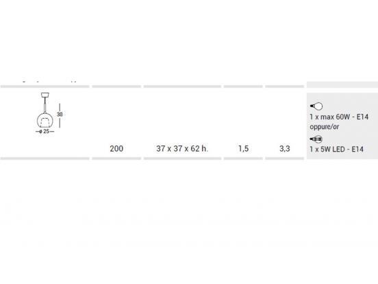PENTA - Glo Medium Pendant