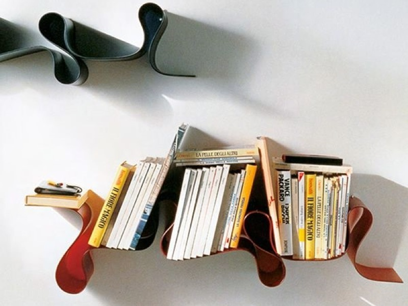 Estantería librería kartell bookworm m rojo vino de segunda mano