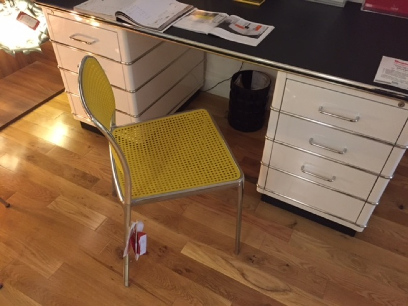 Kartell - Audrey Polished Alu & Yellow chair Clearance 60% Off (1 in stock)