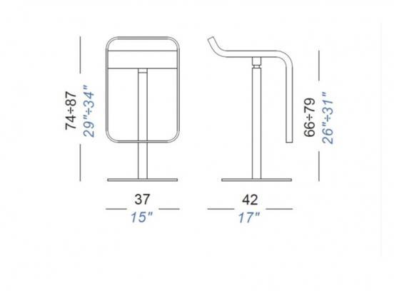 Lapalma - Lem Black Technical Fabric (Kitchen Height)