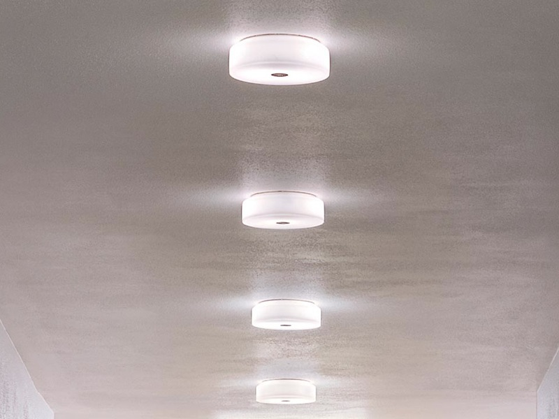 Flos mini button glass light ceiling wall fitting flos mini button glass ceiling wall light mozeypictures Gallery