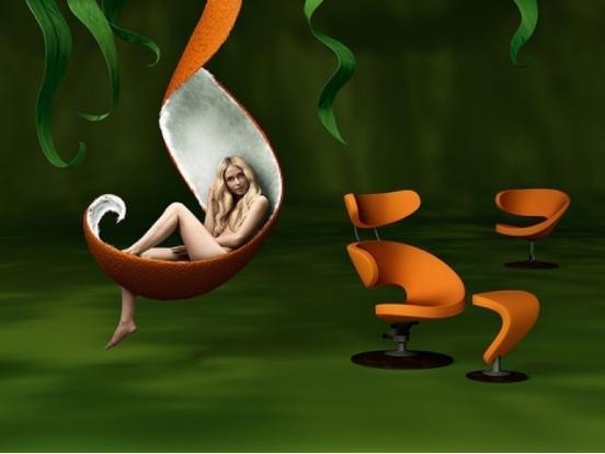Varier - Peel Chair with Footstool