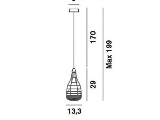 Diesel - Cage Mic Light Suspension Pendant