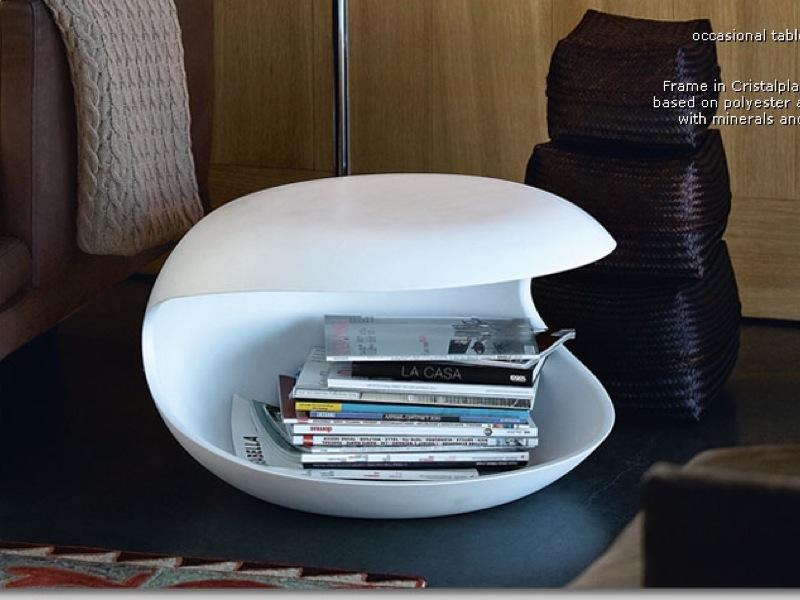 Zanotta   White Shell Coffee Table