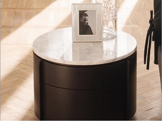 Silenia - Yndro Bedside Draw Marble