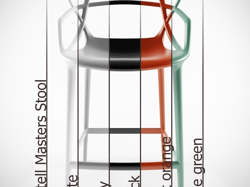 kartell masters kitchen height stool. Black Bedroom Furniture Sets. Home Design Ideas