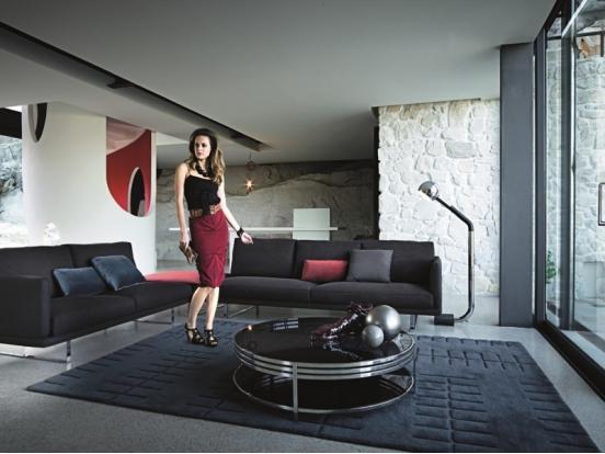 Arketipo rail sofa chaise w274 cm for Chaise 50 cm