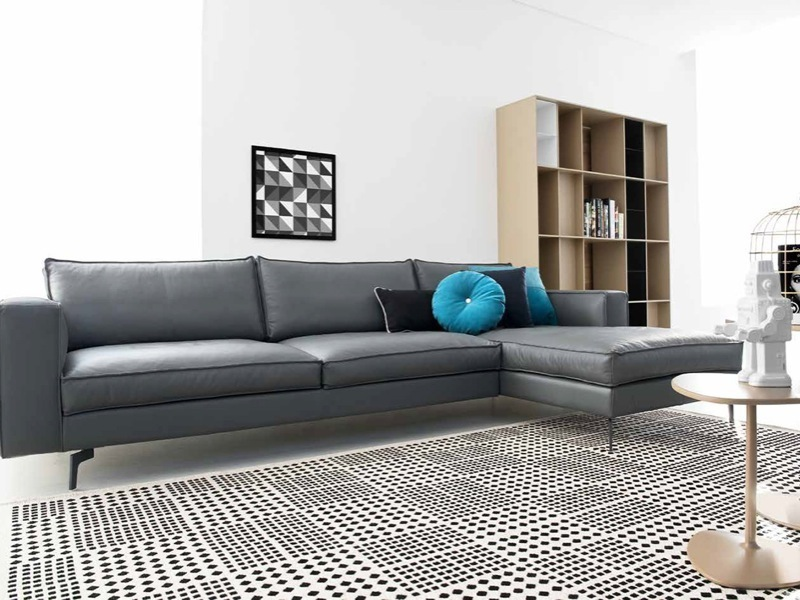 calligaris square sofa w 290 with chaise. Black Bedroom Furniture Sets. Home Design Ideas