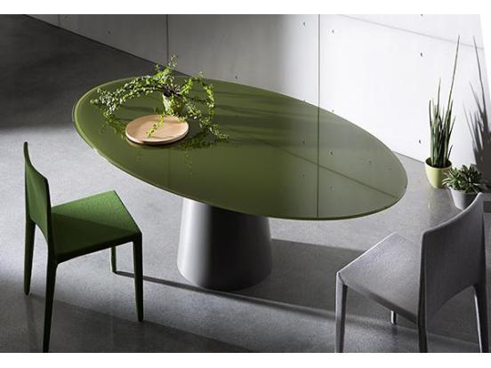 Sovet - Totem 180cm Elliptical Ceramic Dining Table