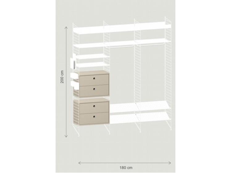 String – Hallway Shelving System White