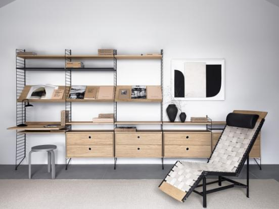 String - Home Office Shelving System Oak