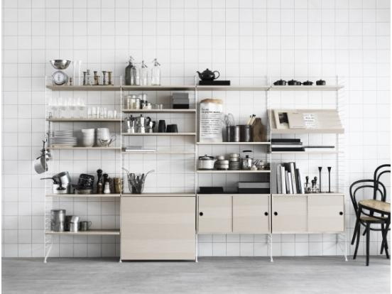 String - Kitchen Shelving System Ash