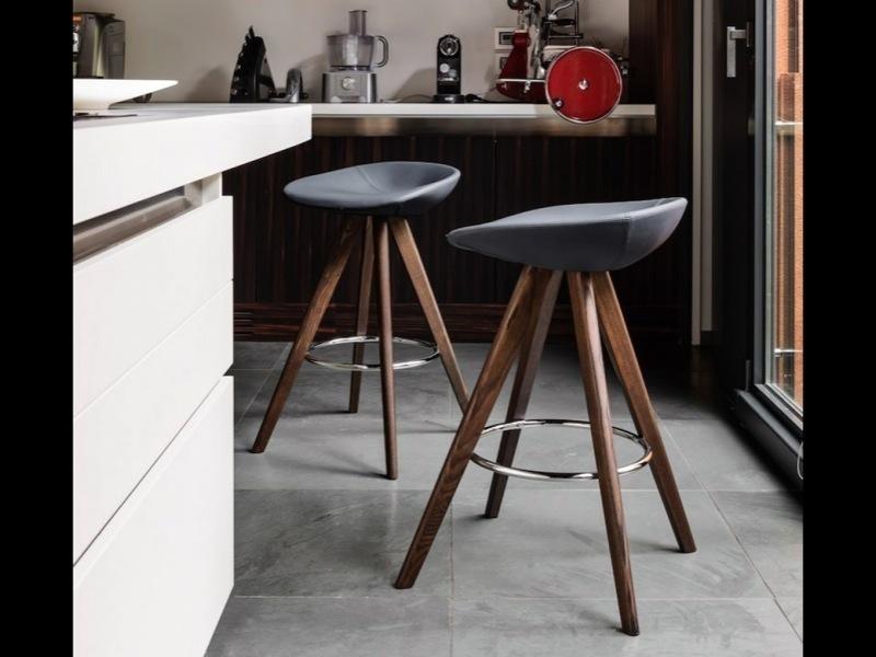 Calligaris - Palm Stool Wood Kitchen Height